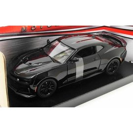 MOTOR MAX MM 79351BK 2017 Chevrolet Camaro ZL1 BLACK 1/24 DIECAST