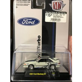 M2 M2 31500-HS07 1987 Ford Mustang GT WIMBLEDON WHITE