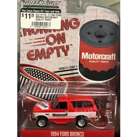 GREENLIGHT COLLECTABLES GLC 41110-E 1994 FORD BRONCO MOTORCRAFT QUALITY PARTS