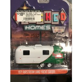 GREENLIGHT COLLECTABLES GLC 34080-C 1971 AIRSTREAM LAND YACHT SAFARI HITCHED HOMES SERIES 8