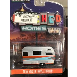 GREENLIGHT COLLECTABLES GLC 34080-B 1959 SIESTA TRAVEL TRAILER HITCHED HOMES SERIES 8