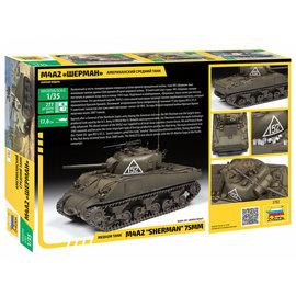 ZVEZDA ZVE 3702 M4A2 SHERMAN 75MM 1/35 MODEL KIT