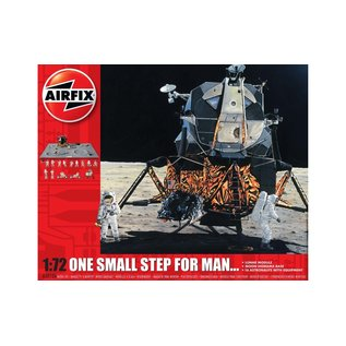 AIRFIX AIR A50106 ONE SMALL STEP FOR MAN... LUNAR MODULE,  MOON DIORAMA,  16 ASTRONAUTS WITH EQUIPMENT