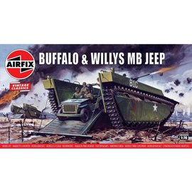 AIRFIX AIR A02302V BUFFALO AND WILLYS JEEP 1/76 MODEL KIT