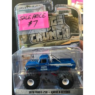 GREENLIGHT COLLECTABLES GLC 49040C KINGS OF CRUNCH SERIES 4 1978 FORD F250 ABOVE AND BEYOND 1/64