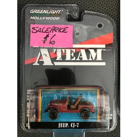 GREENLIGHT COLLECTABLES GLC 44840C HOLLYWOOD SERIES 24 1/64 A TEAM JEEP CJ7