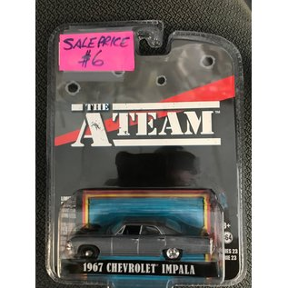 GREENLIGHT COLLECTABLES GLC 44830D HOLLYWOOD SERIES 23 1/64 A TEAM 1967 CHEVY IMPALA 1/64