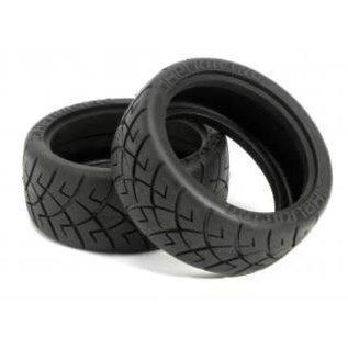 HPI RACING HJPI 4790 X-Pattern Tire 26mm D-Compound (2)