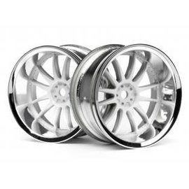 HPI RACING HPI 3285 Work XSA 02C Wheel 26mm Chrome/White (9mm Offset)