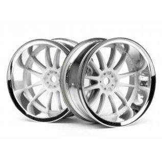 HPI RACING HPI 3285 Work XSA 02C Wheel 26mm Chrome/White (9mm Offset)