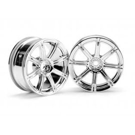 HPI RACING HPI 3300 Work Emotion XC8 Wheel 26mm Chrome (3mm Offset)