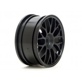 HPI RACING HPI 3711 Mesh Wheel 26mm Black (1mm Offset)
