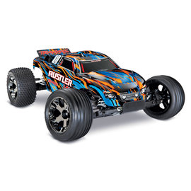 TRAXXAS TRA 37076-4-ORNGX Rustler VXL 1/10 Scale Stadium Truck with TQi Traxxas Link Enabled 2.4GHz Radio System & Traxxas Stability Management (TSM) ORANGE