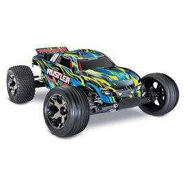 TRAXXAS TRA 37076-4-YLW  Rustler VXL  1/10 Scale Stadium Truck with TQi Traxxas Link Enabled 2.4GHz Radio System & Traxxas Stability Management (TSM) YELLOW