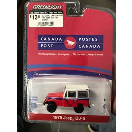 GREENLIGHT COLLECTABLES GLC 30083 CANADA POST 1975 JEEP DJ-5 1/64 DIECAST