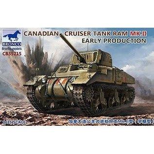 BRONCO BRO CB35215 CANADIAN CRUISER TANK RAM MK.II EARLY PRODUCTION 1/35 MODEL KIT