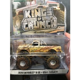 GREENLIGHT COLLECTABLES GLC 49040D KINGS OF CRUNCH SERIES 4 USA 1 LEGACY 1970 CHEVROLET K10