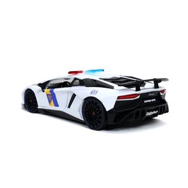 JADA TOYS JAD 32276 LAMBORGHINI AVENTADOR SV STATE POLICE WHITE 1/24 DIECAST