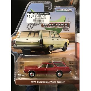 GREENLIGHT COLLECTABLES GLC 29990-D 1971 OLDSMOBILE VISTA CRUISER SERIES 5 ESTATE WAGON 1/64