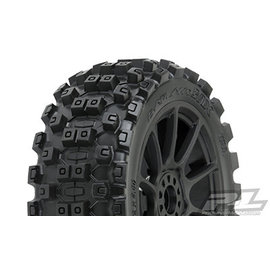 Proline Racing PRO 906721 Badlands MX M2 1/8 MTD Mach 10 Black Wheels F/R