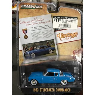 GREENLIGHT COLLECTABLES GLC 39030-A VINTAGE CAR ADS SERIES 2 1/64 STUDEBAKER COMMANDER DIECAST