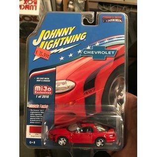 JOHNNY LIGHTNING J/L CP7138 CAMARO 2002 RED 1/64 DIECAST