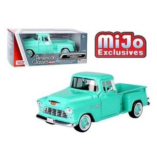 MOTOR MAX MM 73236AC-TUQ 1955 CHEVY 5100 STEPSIDE TURQUOISE
