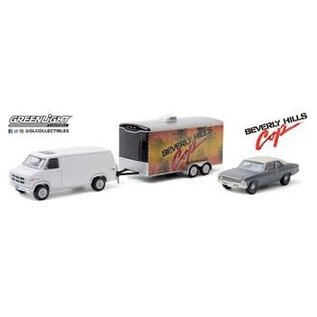GREENLIGHT COLLECTABLES GLC 31100-A 1983 GMC VANDURA 1970 CHEVROLET NOVA - ENCLOSED CAR HAULER