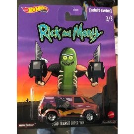 HOT WHEELS HW GJR26 FORD TRANSIT SUPER VAN RICK & MORTY