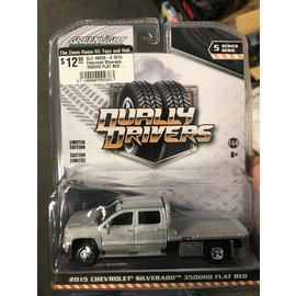 GREENLIGHT COLLECTABLES GLC 46050-A 2015 Chevrolet Silverado 3500HD FLAT BED DUALLY DRIVERS SERIES 5