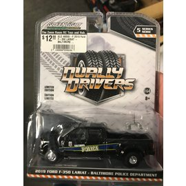 GREENLIGHT COLLECTABLES GLC 46050-F 2019 Ford F-350 LARIAT - BALTIMORE POLICE DEPARTMENT DUALLY DRIVERS SERIES 5