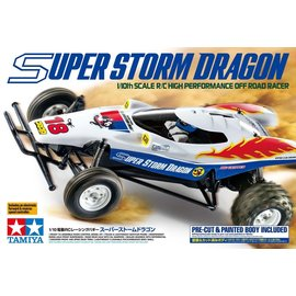 TAMIYA TAM 47438 1/10 R/C Super Storm Dragon PRE CUT & PAINTED BODY INCLUDED