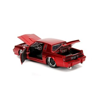 JADA TOYS JAD 30343 1987 BUICK GRAND NATIONAL - CANDY RED 1/24 DIECAST