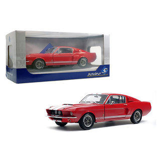 SOLIDO SOL S1802902 1967 SHELBY MUSTANG GT5T00 RED / WHITE STRIPES