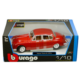 BURAGO BUR 12009RD 1959 JAGUAR MARK 2 1/18 DIECAST