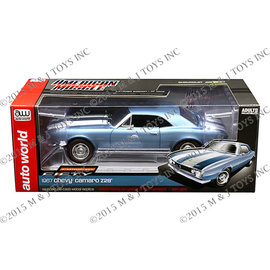 AUTOWORLD AMM 1101 1967 CHEVY CAMARO Z28 50TH BLUE / WHITE STRIPES 1/18 DIECAST