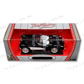 YATMING Y/M 92018 1957 Chevrolet Corvette BLACK/WHITE