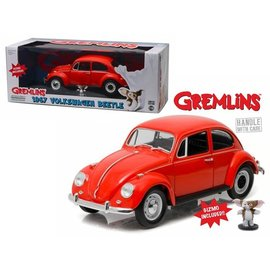 GREENLIGHT COLLECTABLES GLC 12985 1967 Volkswagen Beetle ORANGE GREMLINS GIZMO INCLUDED 1/18