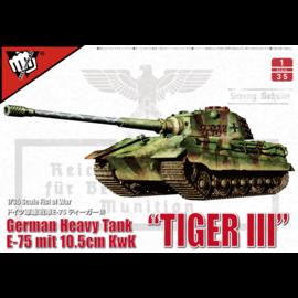 MODELCOLLECT MDC UA35013 GERMAN HEAVY TANK TIGER III  MODEL KIT 1/35