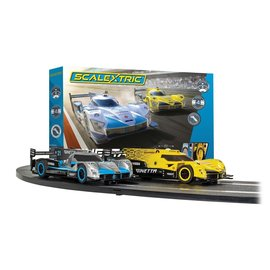 SCALEXTRIC SCA C1412 GINETTA RACERS STARTER SLOT CAR  SET