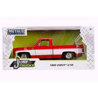 JADA TOYS JAD 31608 1985 CHEVY C-10 PICKUP STOCK - GLOSSY RED 1/24 DIECAST