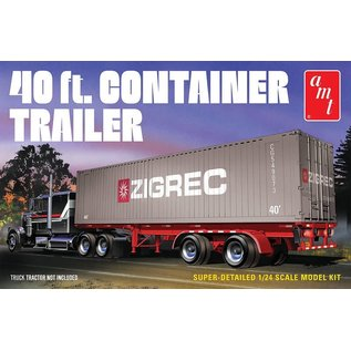 AMT AMT 1196 1/24 40' Semi Container Trailer MODEL KIT