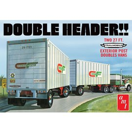 AMT AMT 1132 1/25 Tandem Van Trailers, Double Header