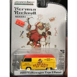 GREENLIGHT COLLECTABLES GLC 37150-D  NORMAN ROCKWELL 1/64 SERIES 1  1969 VW TYPE 2 PANEL 1/64