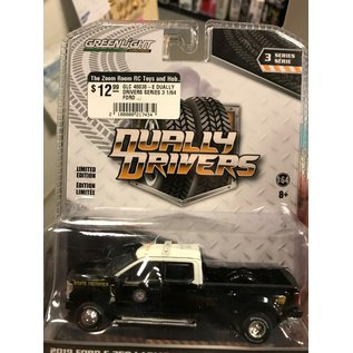 GREENLIGHT COLLECTABLES GLC 46030-E  DUALLY DRIVERS SERIES 3 1/64  FORD 2019 F-350 LARIAT FLORIDA HIGHWAY PATROL
