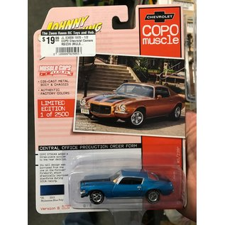 JOHNNY LIGHTNING JL 03608 1970-1/2 COPO Chevrolet Camaro RS/Z28 (MULSANNE BLUE W/BLACK STRIPES