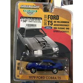 GREENLIGHT COLLECTABLES GLC 30205 1979 FORD COBRA T5 (BLUE GLOW)