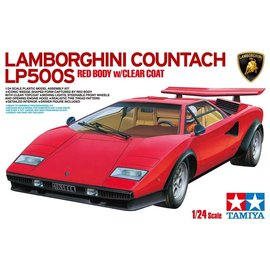 TAMIYA TAM 25419 1/24 Lamborghini Countach LP500S, Red w/Clear Coat