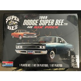 REVELL GERMANY MON 854505 1969 DODGE SUPER BEE 2'N1 440 SIX PACK 1/24 MODEL KIT