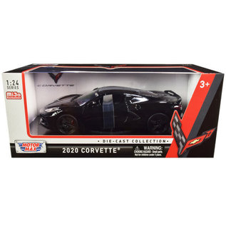 MOTOR MAX MM 79360-BK 2020 CORVETTE C8 BLACK 1/24 DIECAST